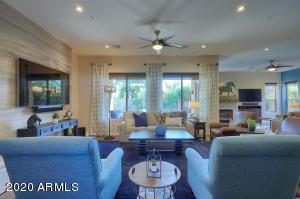 Large Open Floor Plan with easy to maintain wood look tile plank flooring.