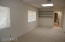The bonus room could become a hobby room, exercise room, man cave or she shed!