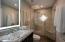 3rd Bathroom w/custom vanity , lighting and shower