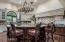 Kitchen Island & Chandelier