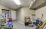 Air conditioned storage in garage with sink