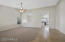 Enter to vaulted ceiling great room