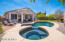 Pool and Spa with new Pebbletec, Tile, and Decking