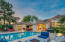 Twilight bliss at the St Tropez Estates within the Scottsdale Ranch subdivision.