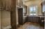 Granite counter tops, sink.Room for refrigerator & freezer.