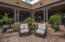 Multiple outdoor seating areas