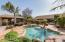 Pool with Ramada on Left and House to the Back Right