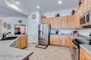 Spacious Kitchen with all Stainless Steel Appliances included.