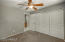 Large closets, and ceiling fans throughout