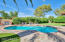 Pool with reverse saltillo decking