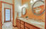 GUEST BATH WITH DOUBLE SINKS AND GRANITE COUNTERS