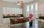 Eat-in Kitchen with Loads of Cabinets for Storage & Plantation Shutters