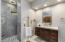 Two Master Bathrooms- Marble Shower & Floating Vanity