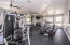Large fitness room on site