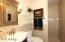 Hall bath w/walk-in shower