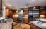Kitchen w/6 burner Dacor range