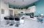 Large kitchen with massive island