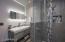new floor and shower tile, new vanity, sink, faucet 2020