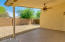 Back covered patio with ceiling fan