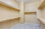 Walk in Master Closet with shelving