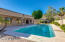 Relax in your sparkling play/lap pool