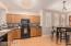 Huge kitchen with ample storage.