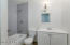 Full bathroom with new vanity, tile and re-glazed bathtub