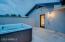 Private hot tub area off the master