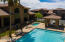 60 foot lap pool and heated spa-