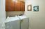 Laundry off of garage-