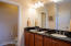 Master bath upper level-double sinks- separate shower and stool-