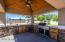 Gazebo / Outdoor Kitchen complete with ceiling fan & TV hookup!