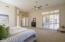 Master Bedroom with exith to the private patio