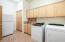Large Laundry room extra storeage