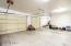 oversize garage with additional storeage