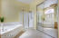 Separate shower and tub.