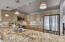 Granite countertops in renovated kitchen