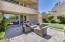 Outdoor seating off of great room is seamless indoor/outdoor living