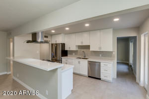 Kitchen opens to family room & dining room