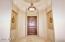 Classy 13 Feet Barrel Ceiling Grand Foyer; Wide Solid Knotty Alder Door