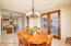 Bright Breakfast Room; Chic Designer Groin Ceiling; Windows on 3 Sides