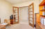 Windowed Solid Alder Wood French Doors Leading To Large Study Studio