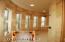 Dual, Expansive Designer Travertine Master Suite Snail Shower(s) PLUS separate Kohler Jacuzzi Tub