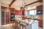Cherry Cabinets and Large Slab Granite