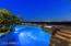 Dreamy night time views from the elevated spa and pool