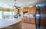 Tons of maple cabinets & HUGE Island