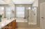 Master Bath with Soaking Tub and Walk-In Shower
