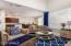 Open floor plan - living room, dining room and kitchen