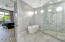 Luxury Shower with Dual Wall Mounted Shower Heads and Ceiling Mounted Rain Shower, Stand Alone Designer Tub