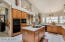 Kitchen with all GE Appliances and Glass top Stove